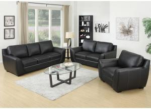 Image for The Mantova Sofa & Loveseat Leather Match* Set - *top grain leather where the body touches, vinyl sides