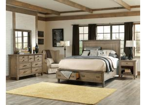 Legacy Brownstone Village King/CAL King Panel Storage Bed